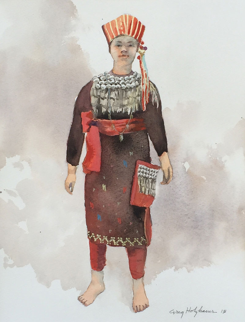CHINESE FOLK COSTUMES #4 WATERCOLOR IMAGE 14X11 FRAMED 20X16 $550  sc 1 th 258 & watercolor