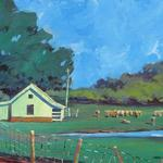 MONTEAGLE FARM, TN OIL ON CANVASS 20X16 SOLD