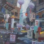 MEMORIES OF HONG KONG ACRYLIC ON VANVASS 24X36 $650
