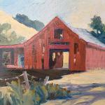 BARN AT GARIN PARK, OIL ON PANEL 8X10 $275