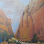 ON THE TRAIL TO LANDSCAPE ARCH OIL ON CANVASS 20X16 $650