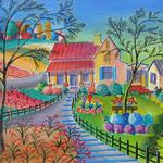 GARNER FARM 28X18 ACRYLIC   SOLD