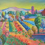 FARM SCENE ONE 24X18 ACRYLIC  $500