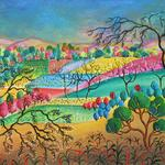 FARM SCENE THREE 28X22 ACRYLIC  $525