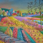 FARM SCENE FIVE 24X18 ACRYLIC   $525