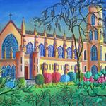 CHAPEL AT UNIVERSITY OF THE SOUTH 30X24 ACRYLIC   SOLD