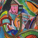 ABSTRACT COMPOSITION FIVE 30X15 BEADS  $1200