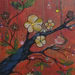 CHERRY BLOSSOM 18X24 BEADS   $650